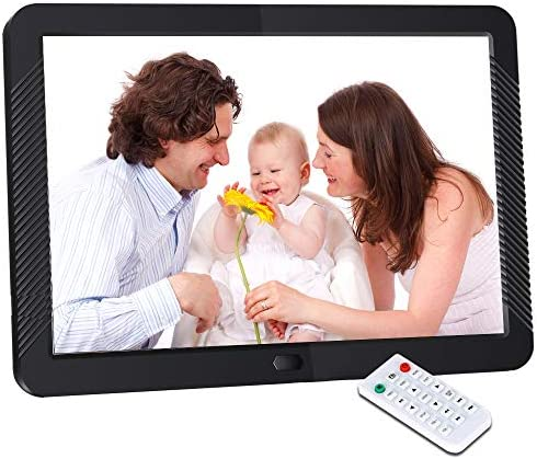Digital Picture Frame 8 Inch Digital Photo Frame HD 1920X1080P with Remote Control 16 9 IPS Display Auto Slideshow Zoom Image Stereo Video Music Player Support USB SD Card 180 View Angle Black