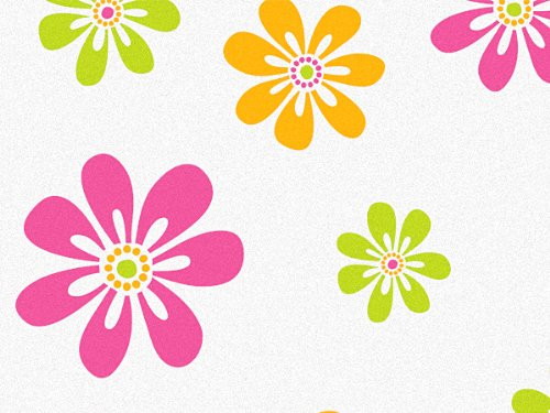 Candy Stripe Daisies Recycled 240~20''x30'' Sheets Tissue Prints (240 Sheets) - WRAPS-P1300 by Miller Supply Inc