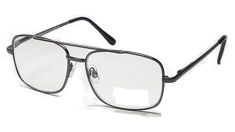 c91d7af6ce5 Multi Focus Progressive Reading Glasses 3 Powers in 1 Reader Square Metal