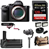 Sony Alpha a7sII Mirrorless Camera (Body) w/ 128GB SD & 3-Axis Gimbal Bundle