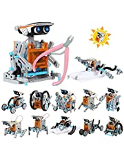 Lucky Doug Solar STEM Robot Toy with Plier, 12 in 1 Science Education Robot Kit for Kids, Learning Building DIY Set Gifts for 8 9 10 11 12 Year Old Boys Girls Kids Students Teens Adults, Assembly Kit with Solar Powered