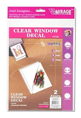 Amazoncom Inkjet Printable Window Cling X Inches Pieces - Window decals amazon