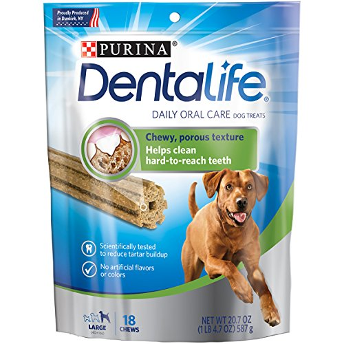 Purina DentaLife Daily Oral Care Large Adult Dog Treats – (1) 20.7 oz.,18 ct. Pouch