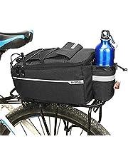 XGZ Fahrradtaschen Gepäckträger, Multifunktions Rahmentasche für Gepäckträger Elektrische Fahrrad Satteltasche Wasserdicht Gepäckträger Tasche für Alle Fahrrad