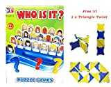 electronic battleship replacement - Who is it Board Game Guess Who? Classic Kid Puzzle Board Game with English Instruction 48 Face Photo Free!!! Triangle Twist Game
