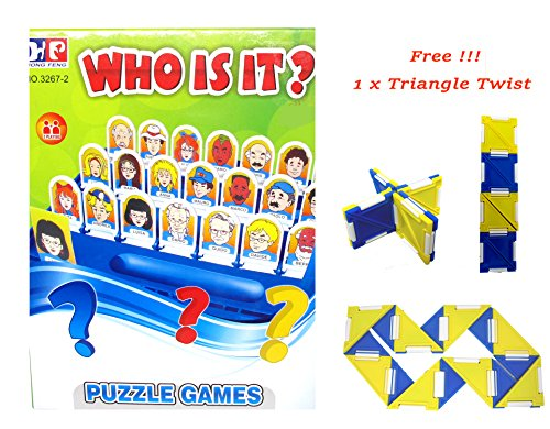 Guess Who Characters Costumes (Who is it Board Game Guess Who? Classic Kid Puzzle Board Game with English Instruction 48 Face Photo Free!!! Triangle Twist)