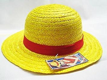 289f76e69d8 Amazon.com   Fashion ONE PIECE LUFFY Anime Cosplay Handmade Natural Mat Straw  Boater Beach Hat Cap Halloween Gift   Beauty