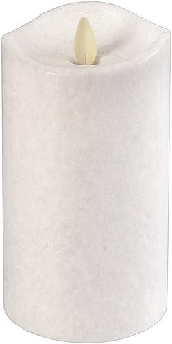 Ganz – White LED Wax Pillar Candle, 3×6 LLWPHX1026