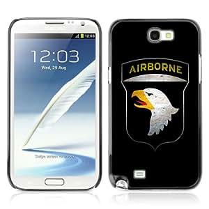 CQ Tech Phone Accessory: Carcasa Trasera Rigida Aluminio Para Samsung Galaxy Note 2 N7100 - US AIRBORNE Military Sign