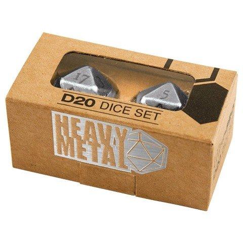 Ultra Pro Heavy Metal D20 Dice Set, Chrome - Heavy Dice