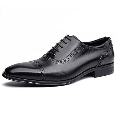 Herren Brogue Lederschuhe Schnürschuhe Oxford Business Casual Schuhe Für Männer  Echtes Leder Offiziellen Party Schuhe, b428989899