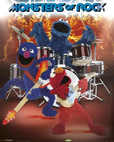 Sesame Street Monsters of Rock Poster 16x20 inch