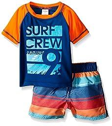 Osh Kosh Baby Surf Crew Short Sleeve Rash Guard Set, Navy, 18 Months