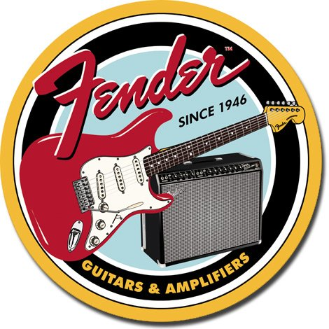 Amazon.com: Fender redondo G & un cartel de chapa: Kitchen ...