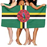 Pants New Beach Towel Flag Of Dominica 80' X 130' Soft Lightweight Absorbent For Bath Swimming Pool Yoga Pilates Picnic Blanket Towels