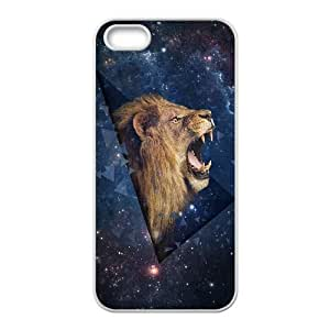 iPhone 4 4s Cell Phone Case White Outer Space Shouting Lion H5C1KH