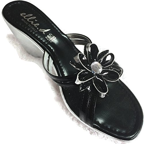 cuero para mujer de negro de vestir Sandalias ELLIED negro ICqfwpf