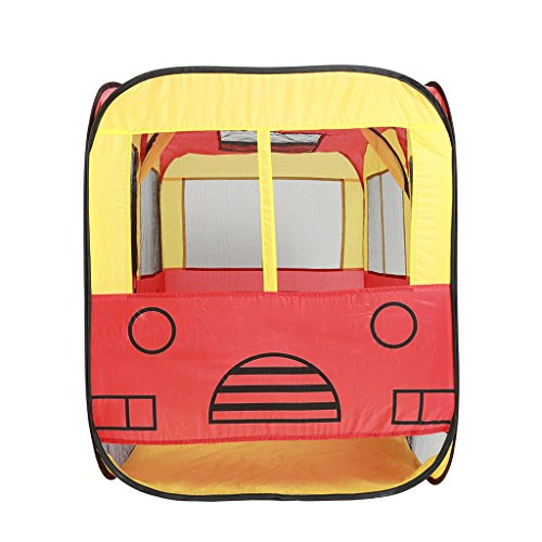 Homyl 63'' Big Bus POP UP Play Tent Play House Ball Pit Car - Pretend Vehicle Kids Play House For Outdoor Indoor Child Interactive Activities Toy (Play Hut Bus)