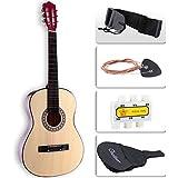 LAGRIMA Beginners Acoustic Guitar w/Guitar Case, Strap, Tuner & Pick Steel Strings (Brown)
