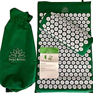 Good For Wellness Acupressure Mat and Pillow | Neck, Sciatica and Back Pain Relief | Migraine & Stress Relief | Back Massager and Neck Pillow | Imrpoved Sleep and Less Stress in Minutes