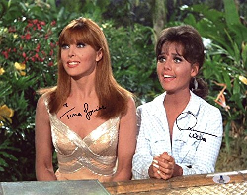 Wells Signed Photo - TINA LOUISE & DAWN WELLS DUAL SIGNED 11x14 PHOTO GILLIGAN'S ISLAND BECKETT BAS