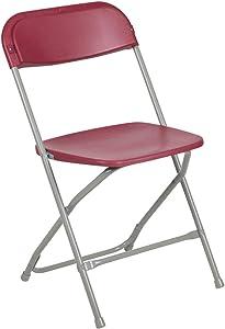 Flash Furniture Hercules Series 800-Pound Premium Plastic Folding Chair, Red