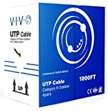 VIVO New 1,000 ft Cat6 Ethernet Cable/Wire 1,000ft Cat-6 Waterproof Outdoor/Direct Burial/Underground (CABLE-V007)