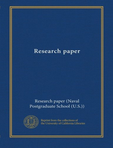 Read Online Research paper (no.50) pdf