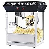 6111 Great Northern Popcorn Black Foundation Top Popcorn Popper Machine, 4 Ounce