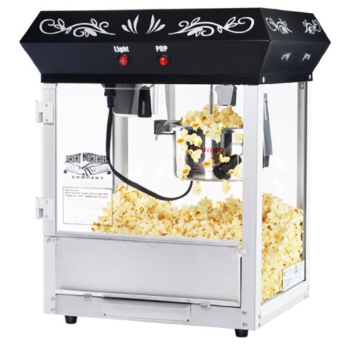 6111 Great Northern Popcorn Black Foundation Top Popcorn Popper Machine, 4 Ounce ()