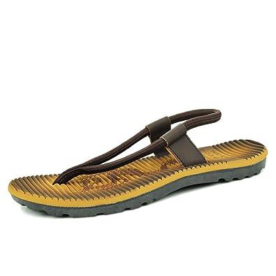 Herren Flip-Flops,Sommer Strand Hausschuhe-A Fußlänge=25.8CM(10.2Inch)