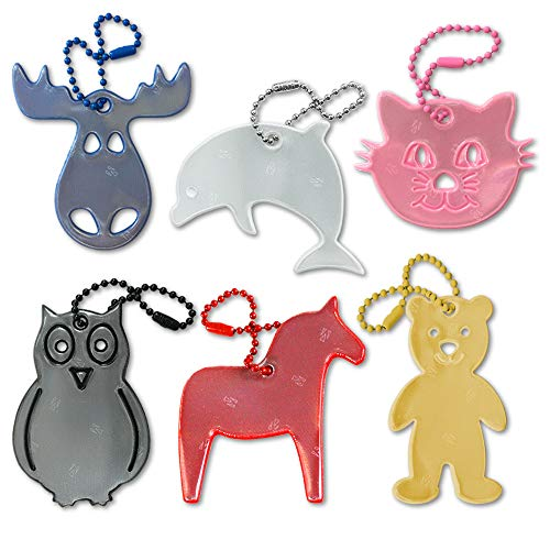 funflector Safety Reflector - Animal Collection - 6-Pack ()