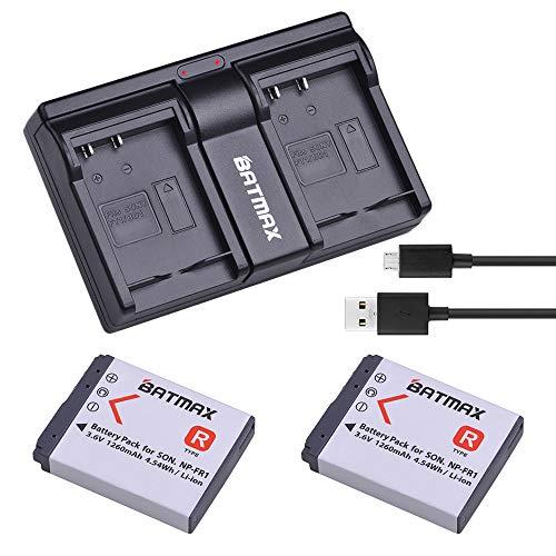 Batmax 2Pcs 1260mAh NP-FR1 NP FR1 Camera Battery + USB Dual USB Charger for Sony DSC-P100/R DSC-P100/S DSC-P120 DSC-P150 DSC-P150/B DSC-P150/L DSC-P200 Cameras