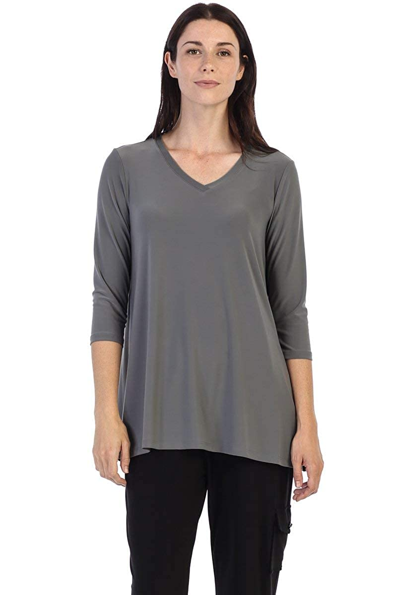 By JJ WrinkleFree 3 4 Sleeve VNeck Top