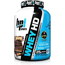 BPI Sports Whey-HD Ultra Premium Whey Protein Powder, Chocolate Cookie, 4.75 Pound