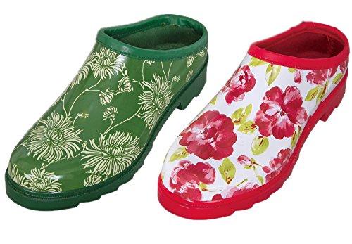 Laura Ashley Conjunto De 2 Mujeres/Damas Calzado Zuecos Estampado Floral Con Plantillas Acolchadas, Varios Tamaños