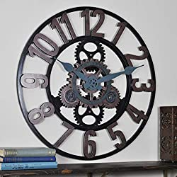 FirsTime & Co. 00232 Vintage Gears Wall Clock, Bronze