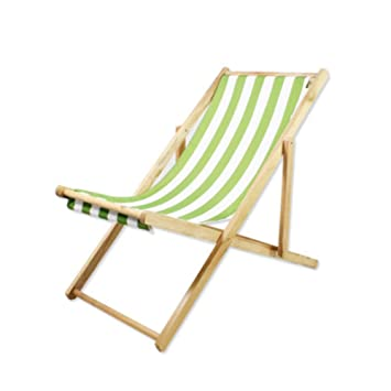 Amazon.com: Lovehouse Silla de playa de madera, plegable ...