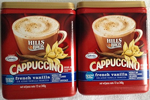 (Hills Bros. Sugar Free French Vanilla Cappuccino Drink Mix (Pack of 2))