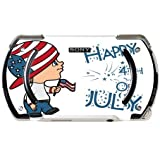 Cute Boy with American Flag Hat Happy 4th of July Quote Celebration Image Design Pattern PSP Go Vinyl Decal Sticker Skin by Trendy Accessories