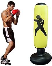 Target Bag con Pompa per Formazione Veloce di Boxe AILUOR Sacco da Boxe da Pavimento Gonfiabile Sport Adulto dei Bambini del Sacchetto di Perforazione del Pugilato di addestramento di Scossa