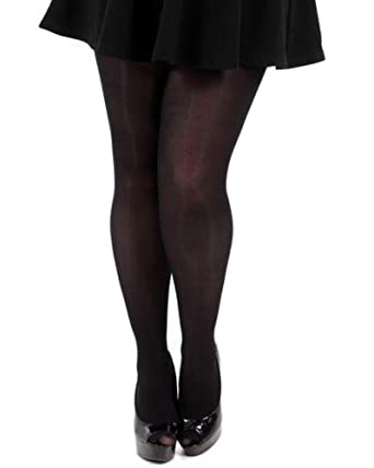 87c2fcc98 Plus Size 70 denier Black Tights at Amazon Women s Clothing store