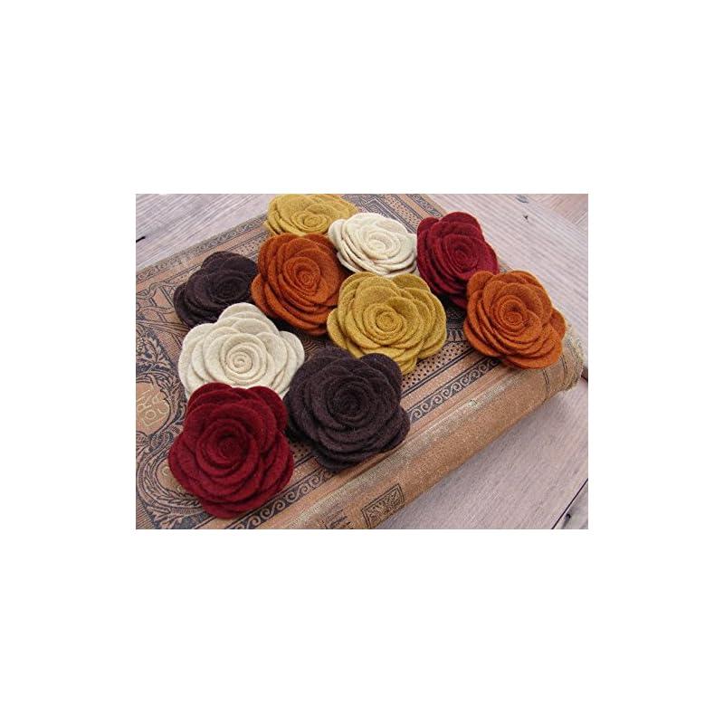 silk flower arrangements wool felt flowers - large posies - autumn collection - the original wool felt posies