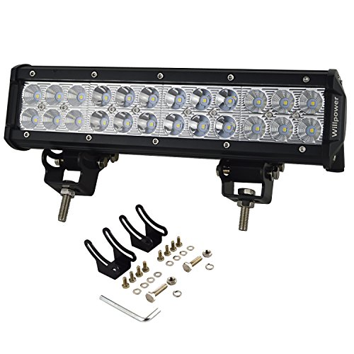 Willpower-12-inch72w-Spot-LED-Work-Light-Bar-for-Truck-Car-ATV-SUV-4X4-Jeep-Truck-Driving-Lamp