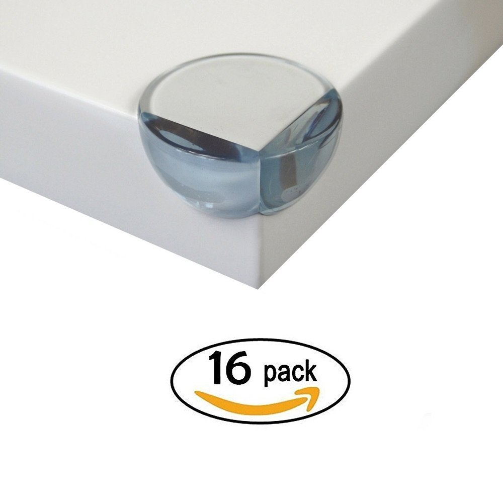 Baby PROOFING Clear Corner Guards | Premium Corner Protectors | High Resistant Adhesive Gel | Tables, Furniture & Sharp Corners Baby Proofing | Stop Child Head Injuries | Sharp Corner Cushion (