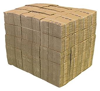 PRATT reciclado sola pared de cartón corrugado caja de estándar, beige, 1500: Amazon.es: Amazon.es