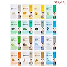 Dermal collagen essence mask is a new essence mask which specially formulates cosmetics to penetrate highly concentrated active ingredients into the skin while keeping air out of the skin completely thus, it makes your tired skin moistened, e...