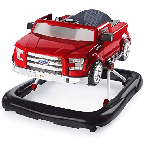 Bright Starts Ways to Play 4-in-1 Walker Ford F-150, Red, Ages 6 months +