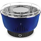 MEDION MD 17700 Parrilla Mesa Carbón vegetal Negro, Azul - Barbacoa (Parrilla, Carbón