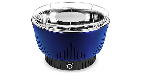 MEDION MD 17700 Parrilla Mesa Carbón vegetal Negro, Azul - Barbacoa (Parrilla, Carbón vegetal, 32 cm², 32 cm, 5 personas(s), 2 año(s)): Amazon.es: Hogar